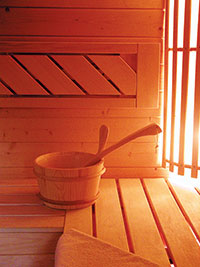 Sauna at The Castle Inn